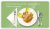Página web desarrollada para el Restaurante Martín