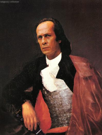 Retrato del guitarrista flamenco Paco de Lucía