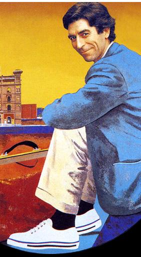 Retrato del poeta y cantante Joaquin Sabina