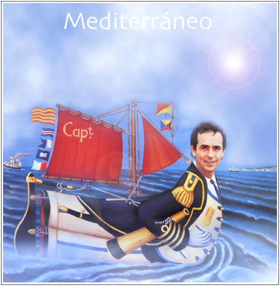 Retrato del cantautor catalán Joan Manuel Serrat