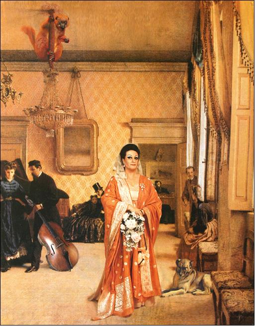 Retrato de la soprano Montserrat Caballé