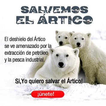 Página web de la campaña de Greenpeace: Salvemos el Ártico