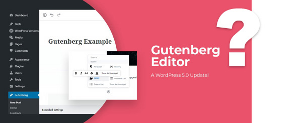 editor de wordpress Gutenberg